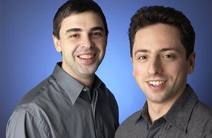 Google-Gründer Larry Page und Sergey Brin: Schritt nach Europa
