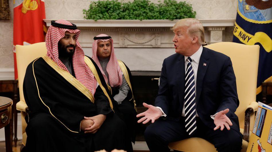 """Prinz Salman, Donald Trump (Archiv): """"Es geht mir allein darum, gute Deals zu machen"""""""