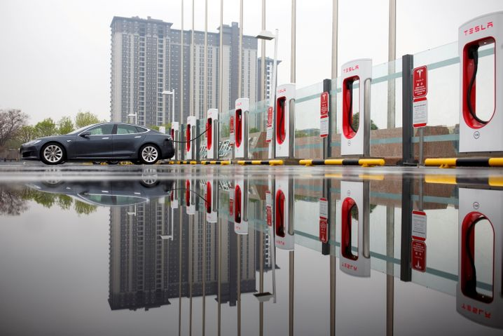 Supercharger: Tesla-Ladesäulen in China