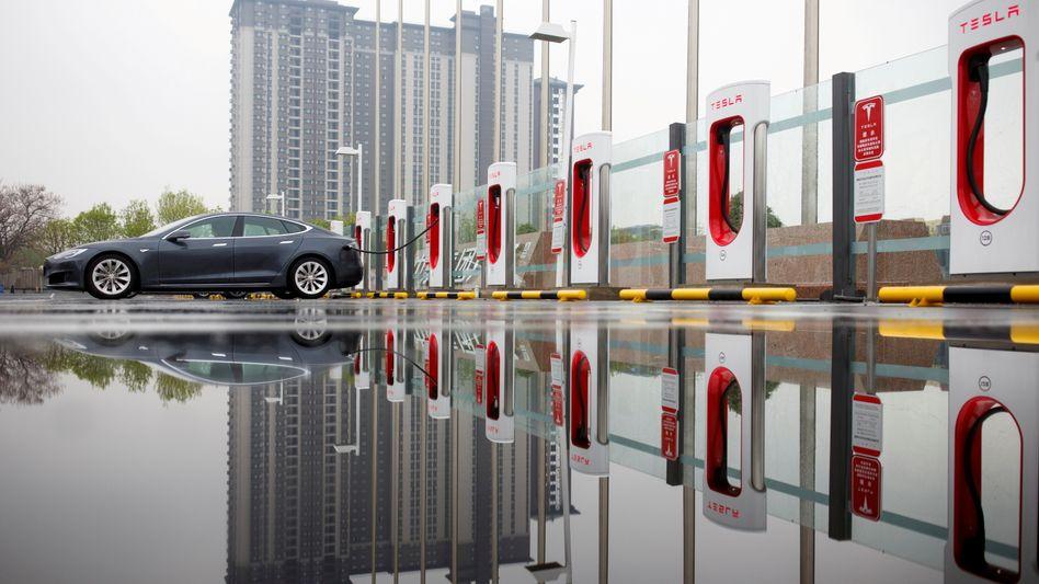 Platz für Wachstum: Tesla-Ladesäulen in China