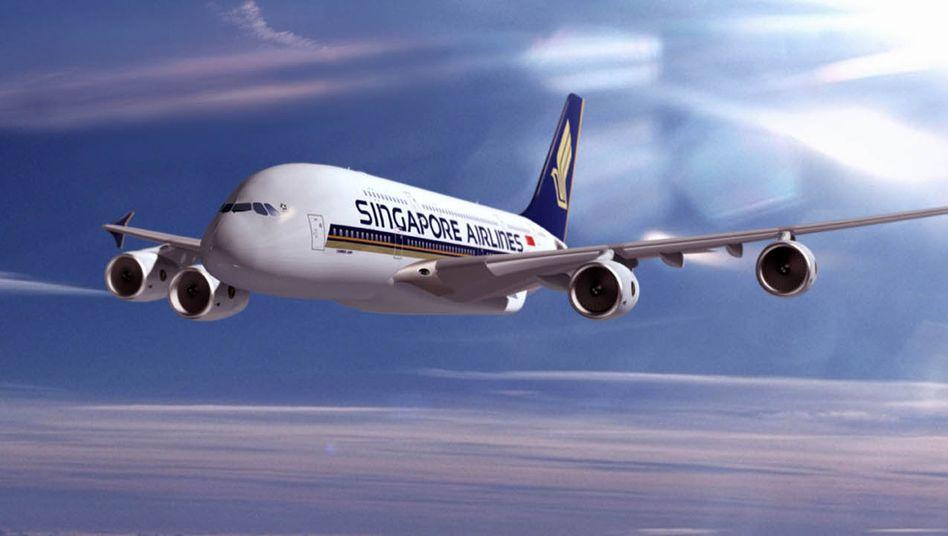Fliegender Palast: Ein A380 von Singapore Airlines