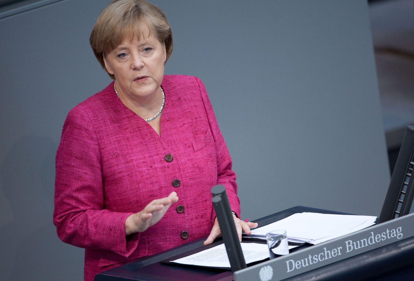 Angela Merkel / Regierungserklärung 09.06.2011