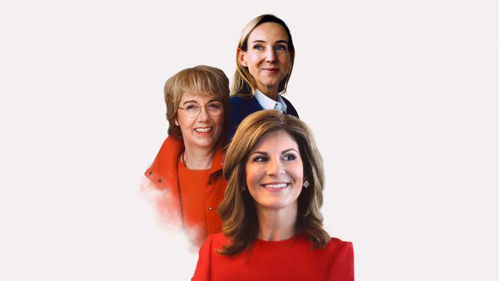 Spitzenfrauen: Simon Bagel-Trah (Henkel), Martina Merz (Thyssenkrupp), Jeniffer Morgan (SAP).