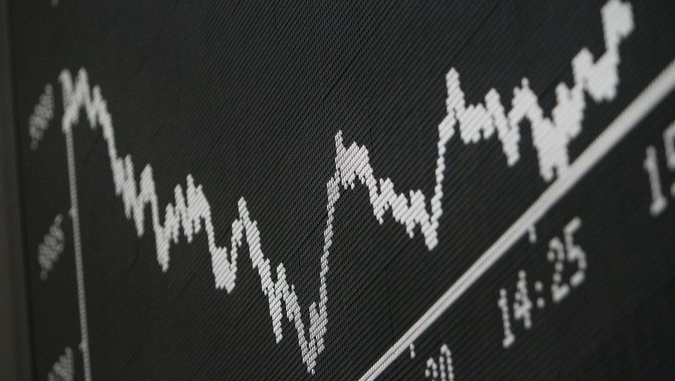 Kurs-Anzeigetafel an der Frankfurter Börse