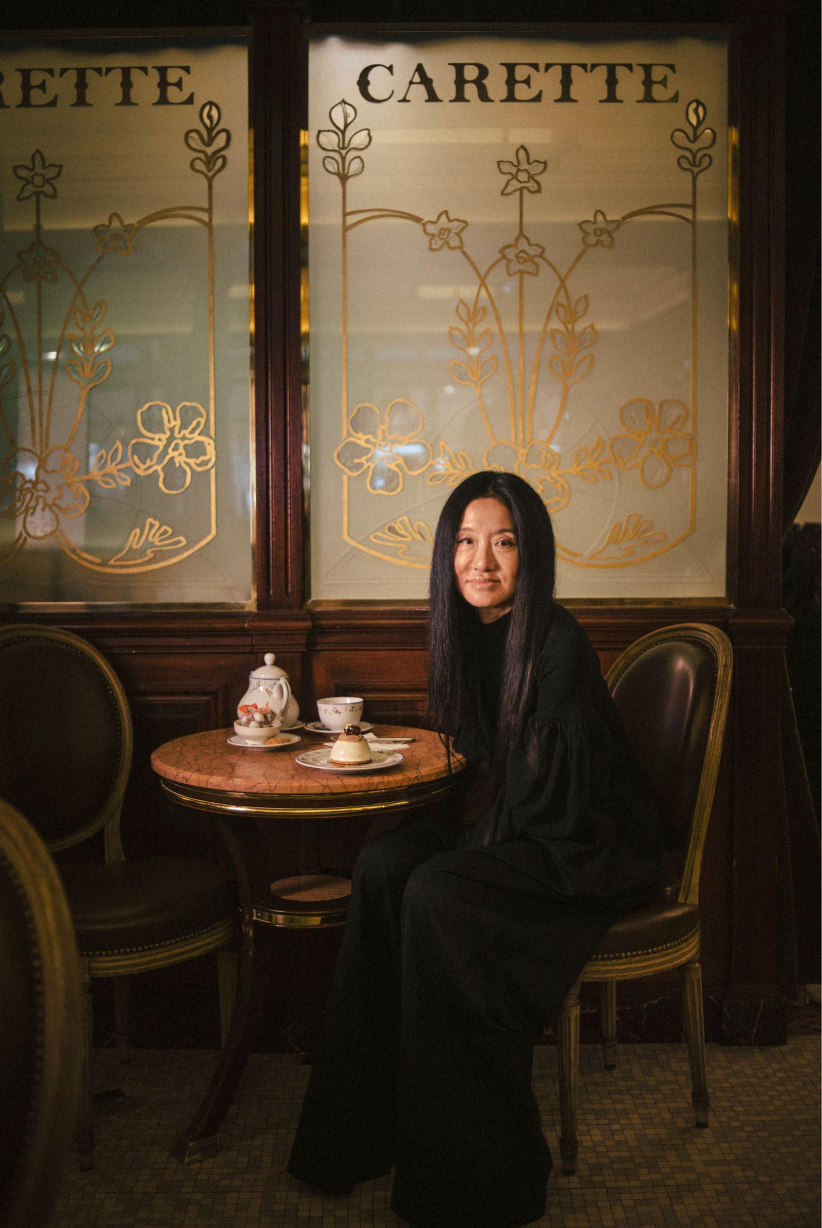 Vera Wang, the fashion designer, at Chez Carette in Paris.
