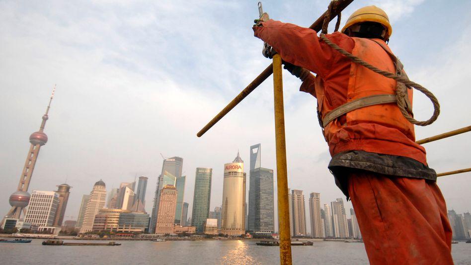 """Hochkonjunktur in China: Die Wirtschaft wuchs im zweiten Quartal """"nur"""" um 9,5 Prozent, der geringste Zuwachs seit zwei Jahren"""