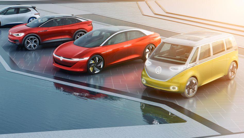 Die I.D. Familie: Mit diesen Modellen will Volkswagen Tesla Paroli bieten