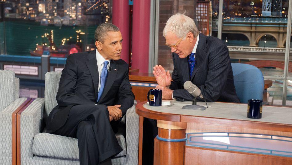 Obama, David Letterman: Der Ex-Präsident arbeitet mit dem Streamingdienst Netflix zusammen