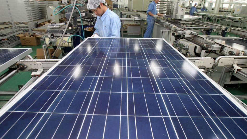Solar-Panelfertigung in Nantong City: Produktion zu Dumping-Kosten vorgeworfen