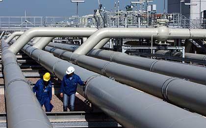 Großprojekt: Gaspipeline, hier in der Verdichterstation eines Erfurter Versorgers