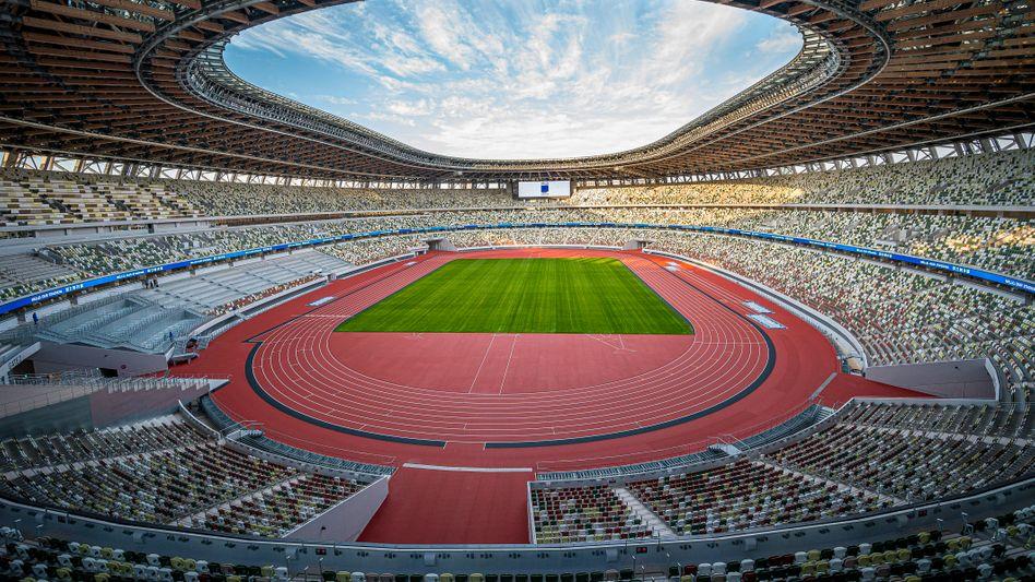 Leeres Olympia-Stadion in Tokio: Die Sportlerinnen und Sportler werden ihre Wettkämpfe bei der Olympiade in Tokio vor leeren Rängen in den Stadien austragen müssen