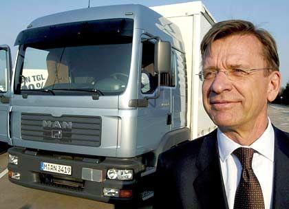 Geglückter Einstand: Hakan Samuelsson auf dem MAN-Testgelände in Karlsfeld bei München