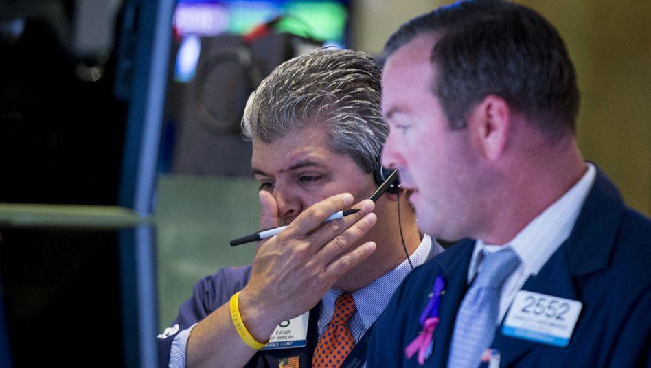 Börsianer in New York