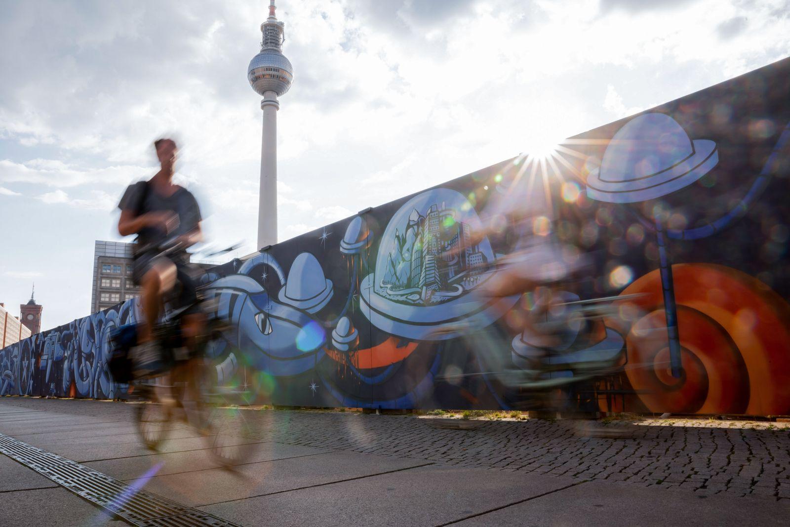 Street-Art-Projekt am Berliner Alexanderplatz