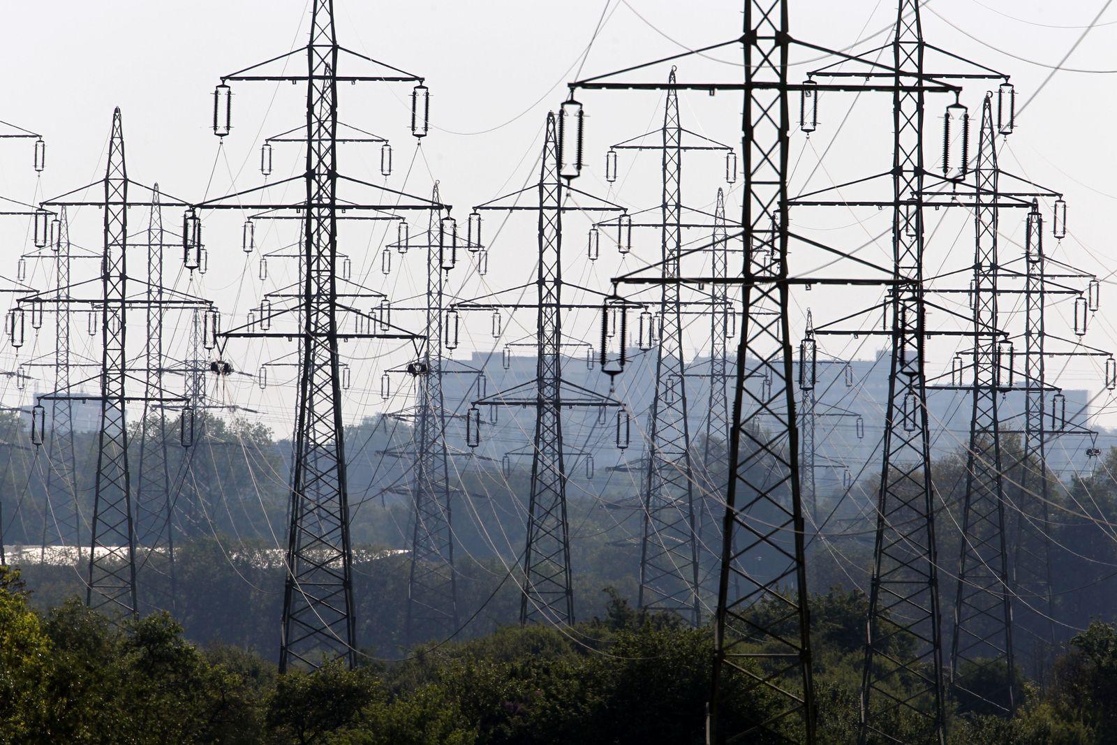 Stromnetz Leitungen Hochspannungsleitungen