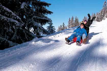 Abwärts: Rodeln ist ein sanfter Wintersport