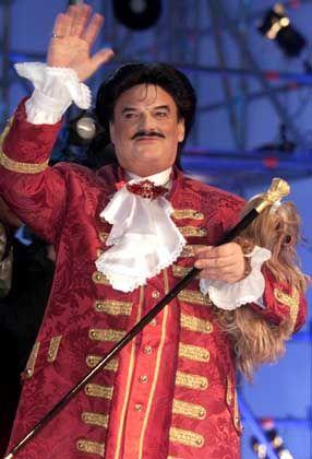 Auch mit dem Singen versuchte er es: Moshammer bei der Vorausscheidung zum Grand Prix d'Eurovision de la Chanson