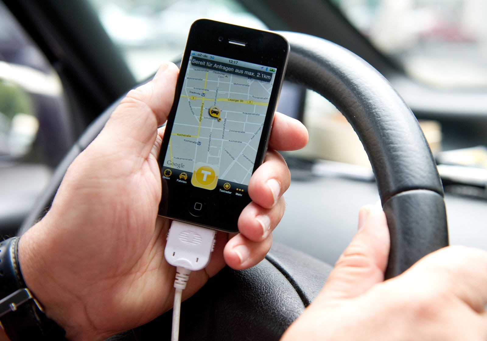Smartphone-App MyTaxi