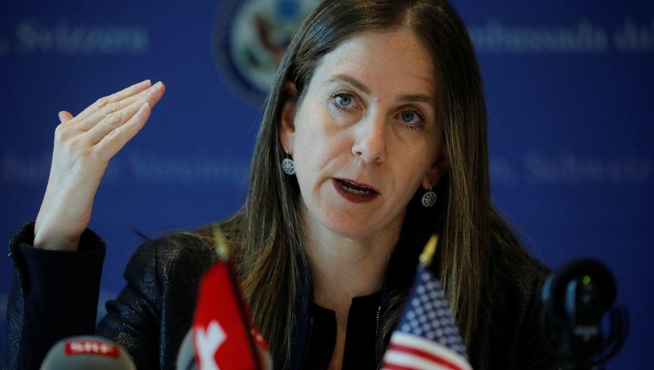 Die für Bekämpfung von Geldwäsche und Terrorismusfinanzierung zuständige Staatssekretärin des US-Finanzministeriums Sigal Mandelker zu Besuch in der Schweiz