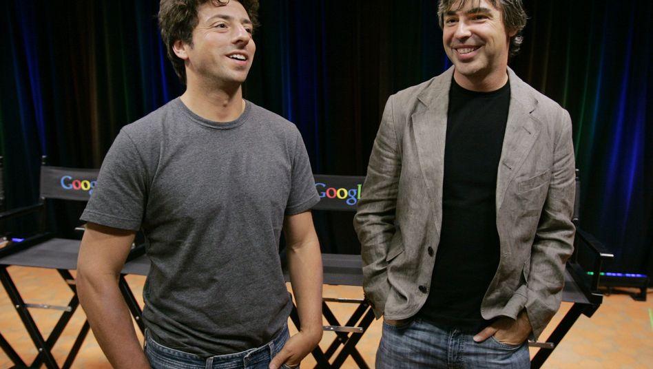"""Google-Gründer Sergey Brin, (l.) und Larry Page: """"Es ist Zeit, die Rolle von stolzen Eltern einzunehmen"""""""