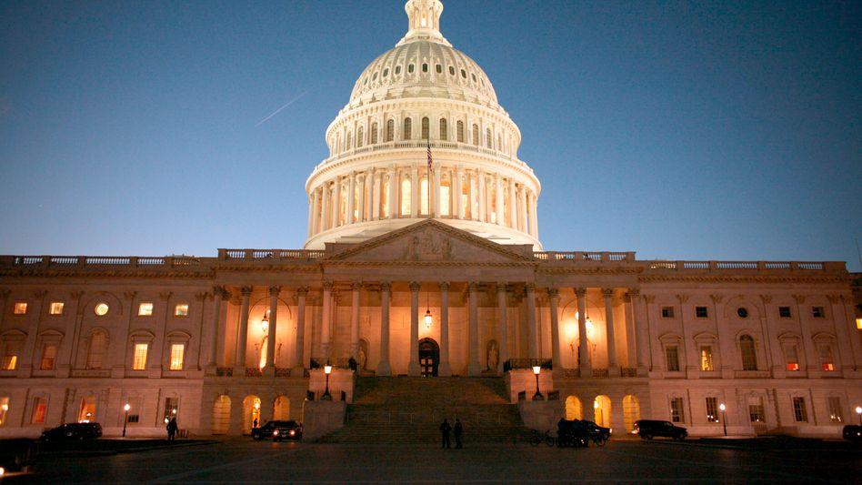Noch sind nicht alle Lichter aus: Das Kapitol in Washington, Zentrum der US-Politik - auch der Wirtschaftspolitik