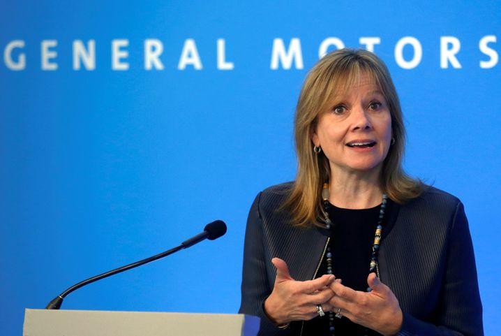 GM-Chefin Mary Barra: Probleme durch Strafzölle