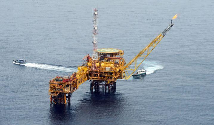 Förderplattform vor Nigeria: Der afrikanische Staat erzielt 90 Prozent seiner Exporteinnahmen mit Öl