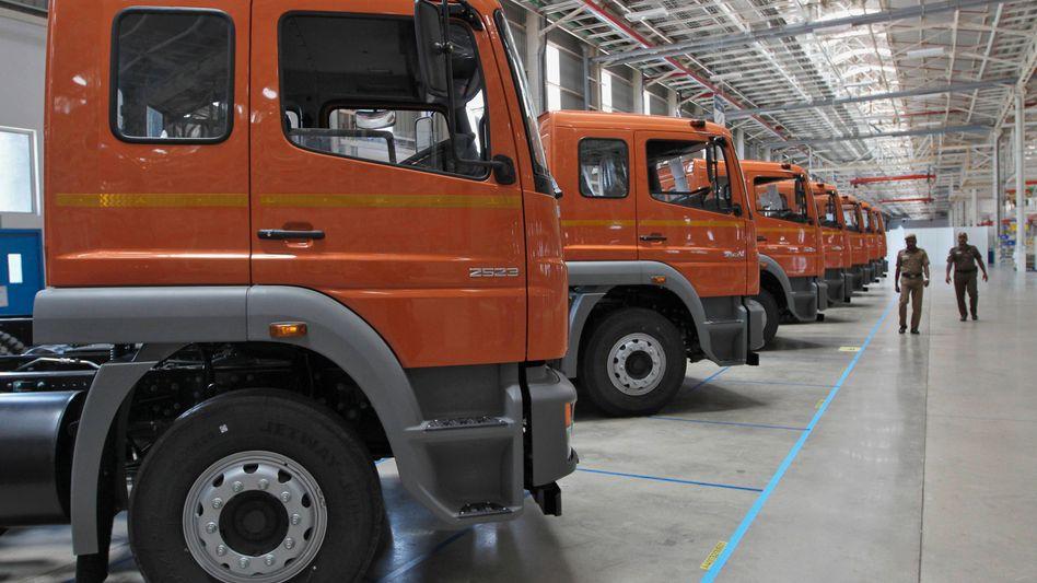 Werk in Indien: Daimler Truck ist weltgrößter Hersteller schwerer Lkw