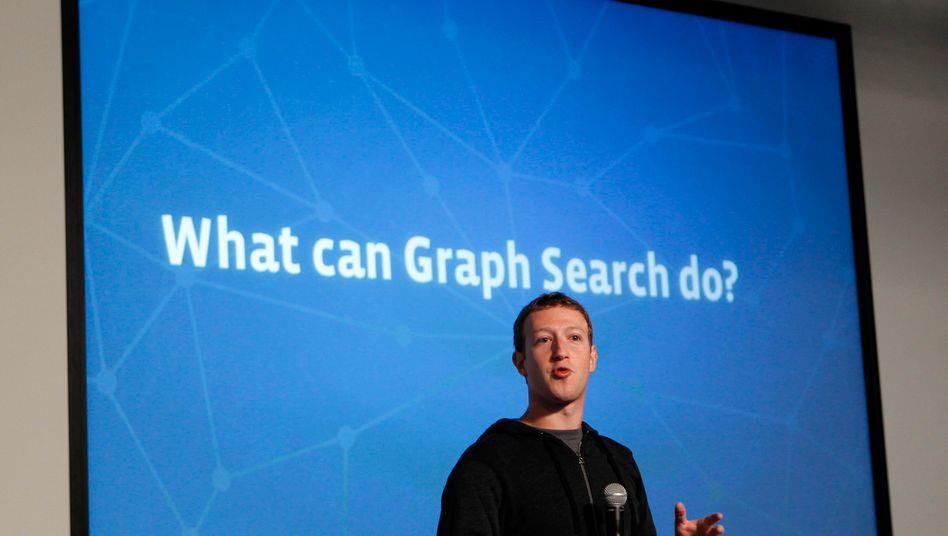 """Facebook-Chef Zuckerberg: """"Graph Search ist ein neuer Weg für Menschen, Informationen auf Facebook zu finden"""""""