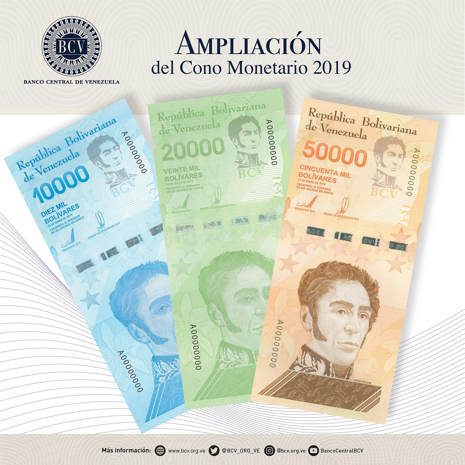 Bolivar / Venezuela / neue Scheine Juni 2019
