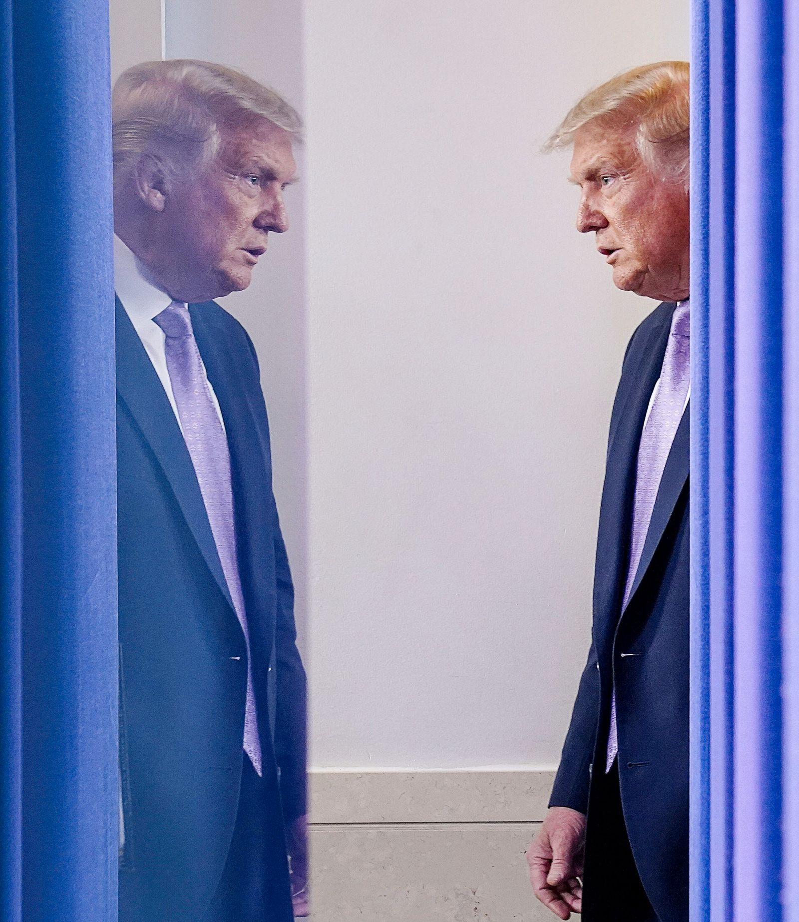 U.S. President Trump holds coronavirus disease (COVID-19) pandemic briefing at the White House in Washington