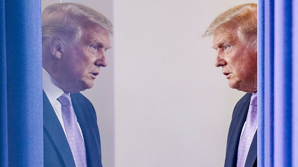 Donald Trump, hier vor einem Pressetermin zur Corona-Lage in den USA am 13. August.