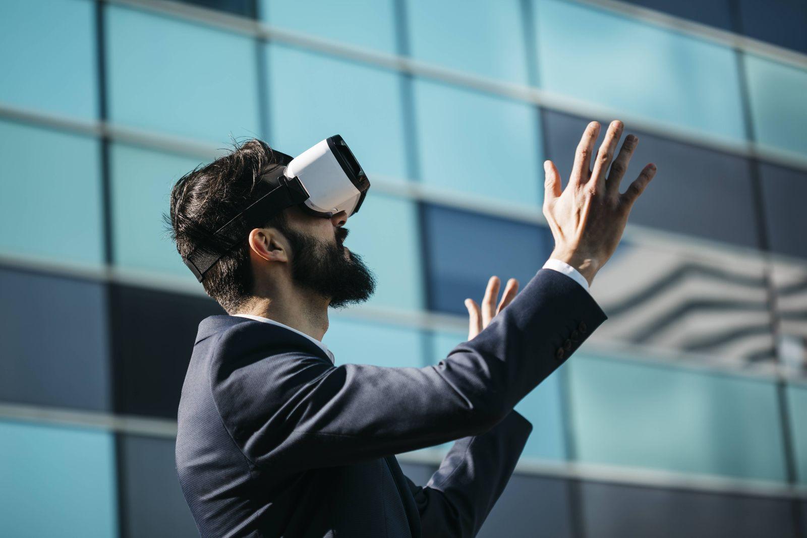 EINMALIGE VERWENDUNG Virtual Reality / Freiheit / Digitalisierung