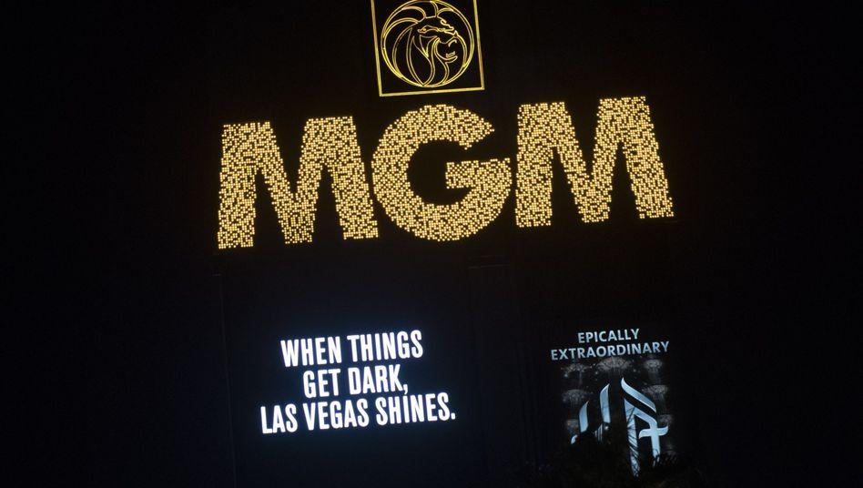 MGM-Fassade in Las Vegas