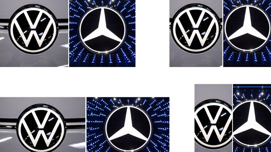 Volkswagen und Daimler: Die Konzerne loten eine mögliche Zusammenarbeit auf höchster Ebene aus.