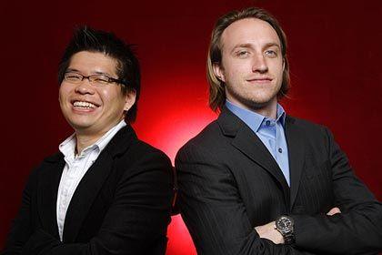 YouTube Gründer Chen (l.) und Hurley: Wer hat wie viel bei dem Verkauf an Google verdient?