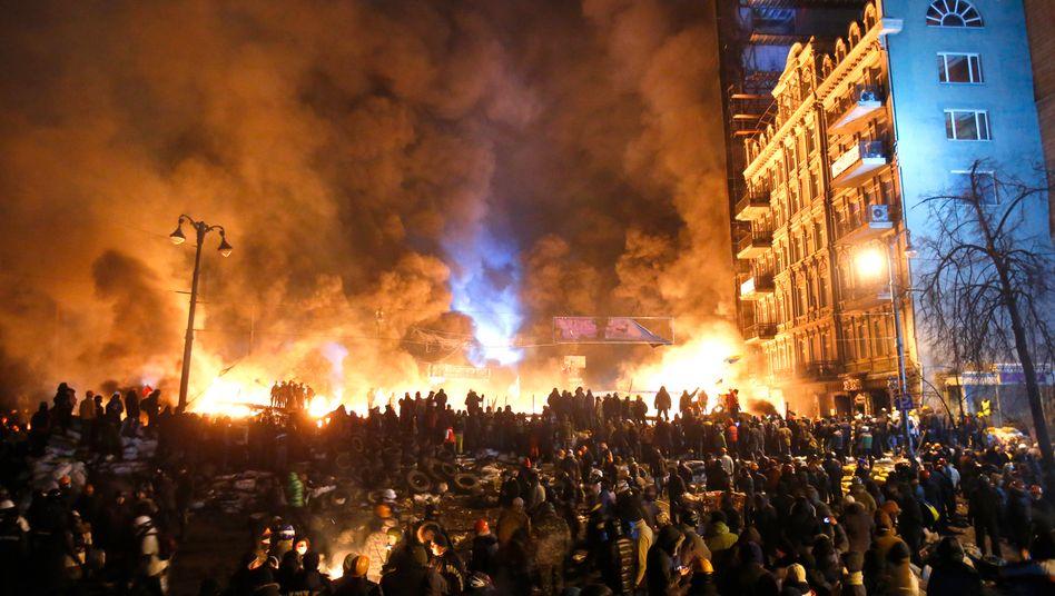 Zusammenstöße in Kiew (am 25. Januar): Politische Lösung möglich