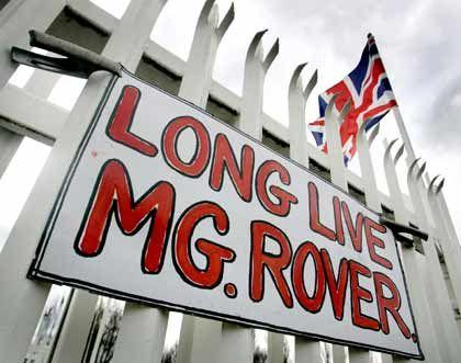 Long live MG Rover: Proteste zum Erhalt des Werkes