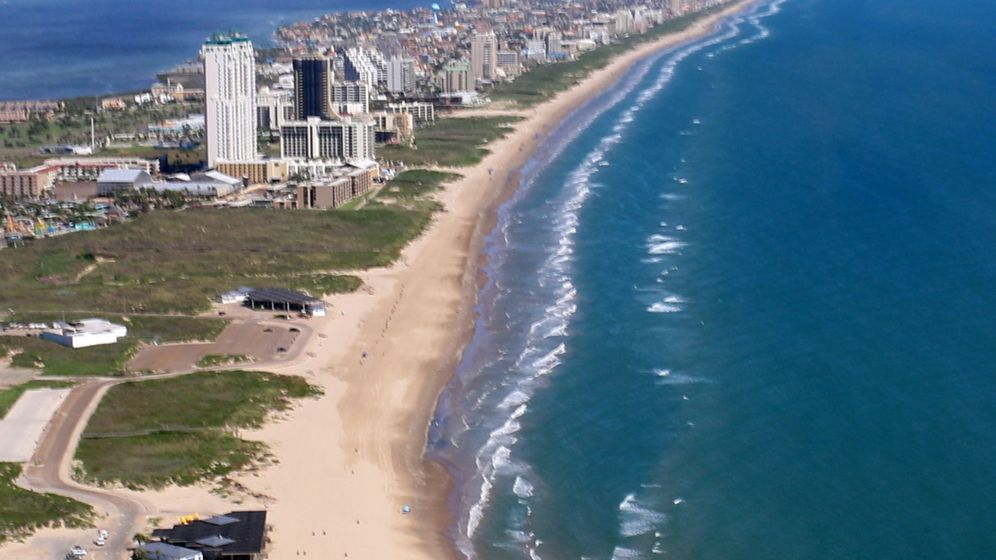 Amerikas Strände: Burgenbauen an Texas' Küste