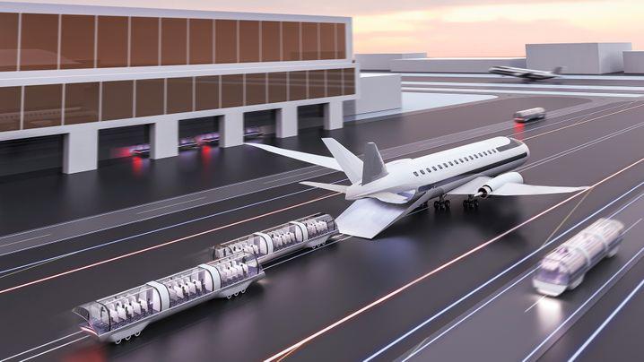 """System """"Shift"""": Während die Kabinen ins Flugzeug rollen, nimmt dieses bereits Fahrt auf"""