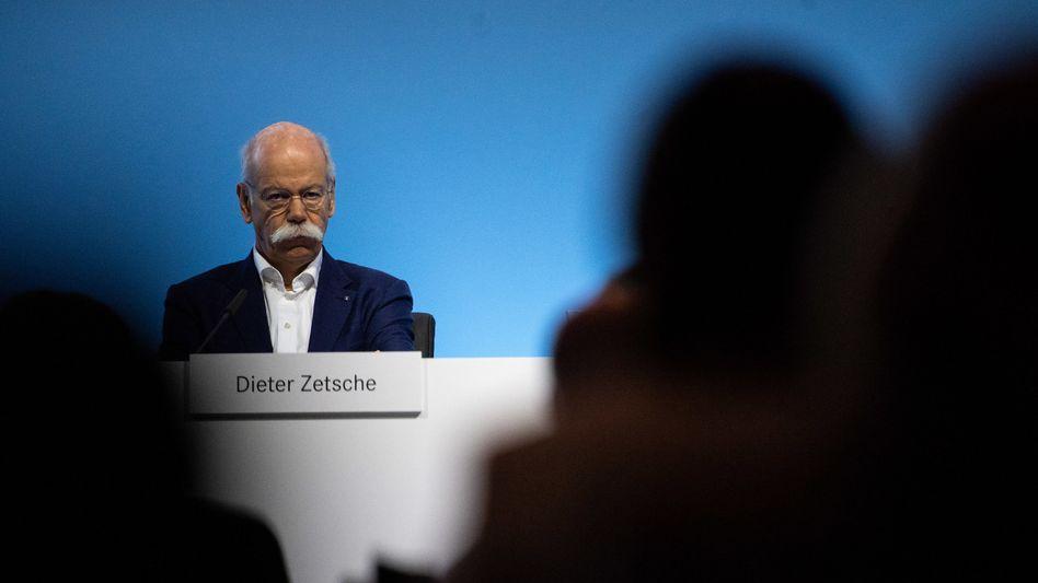 """""""Damit können und wollen wir nicht zufrieden sein"""": Daimler-Chef Dieter Zetsche"""