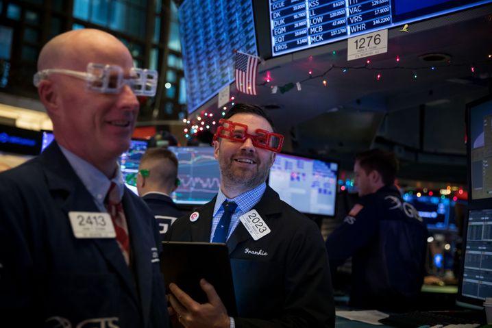 Geht die Party weiter? Wall-Street-Händler am Silvestertag 2019.
