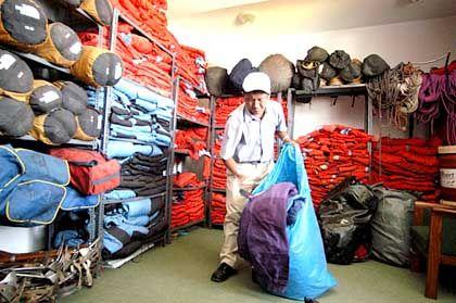 Lager von Thamserku-Trekking: 1000 Kunden können auf einmal ausgerüstet werden