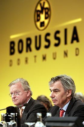 Gerd Niebaum (l.) und Michael Meier: Das ehemalige Führungsduo der Fußball AG steht juristisch unter Beschuss