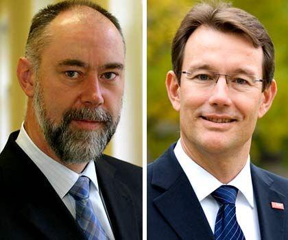 Neues Führungsduo bei Ciba: Finanzvorstand Seeger (l.), Vorstandschef Heinz
