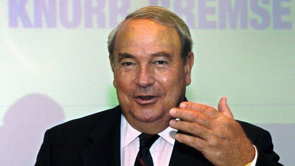 Hat Spaß an Knorr-Bremse: Haupteigner Heinz Hermann Thiele fährt eine ungebremste Expansionsstrategie