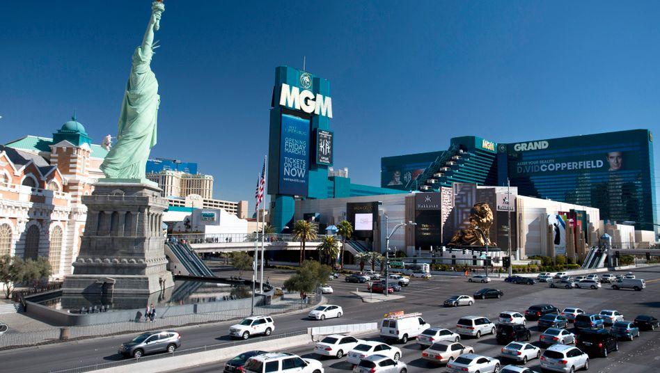 Das MGM Grand am berühmten Strip von Las Vegas: Die Deutsche Bank machte schlechte Erfahrungen mit Geschäften im US-Spielerparadies.