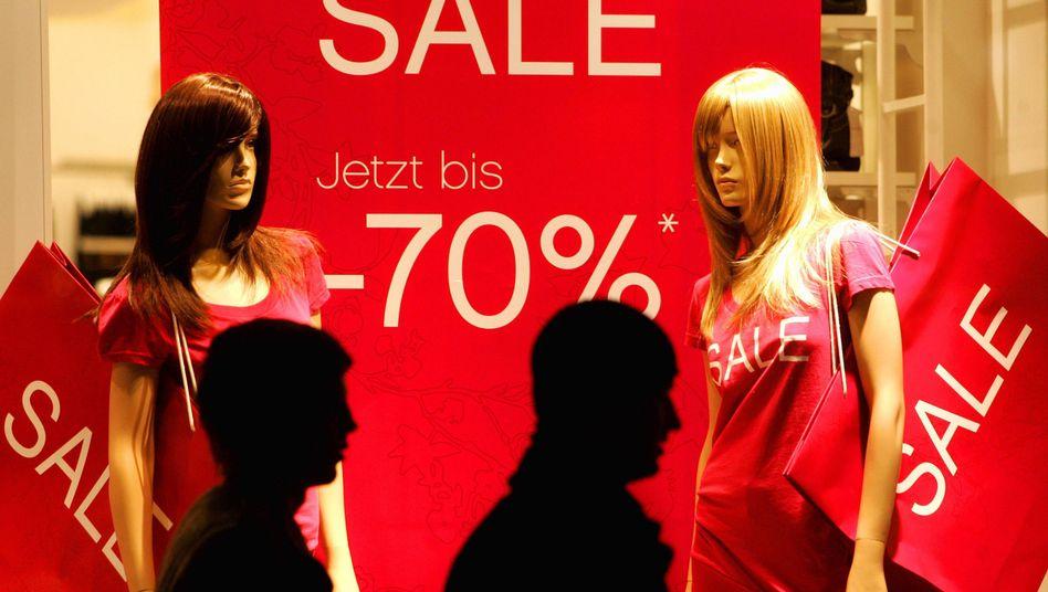 Shopping-Laune: Deutschlands Konsumenten prassen im internationalen Vergleich weniger kräftig