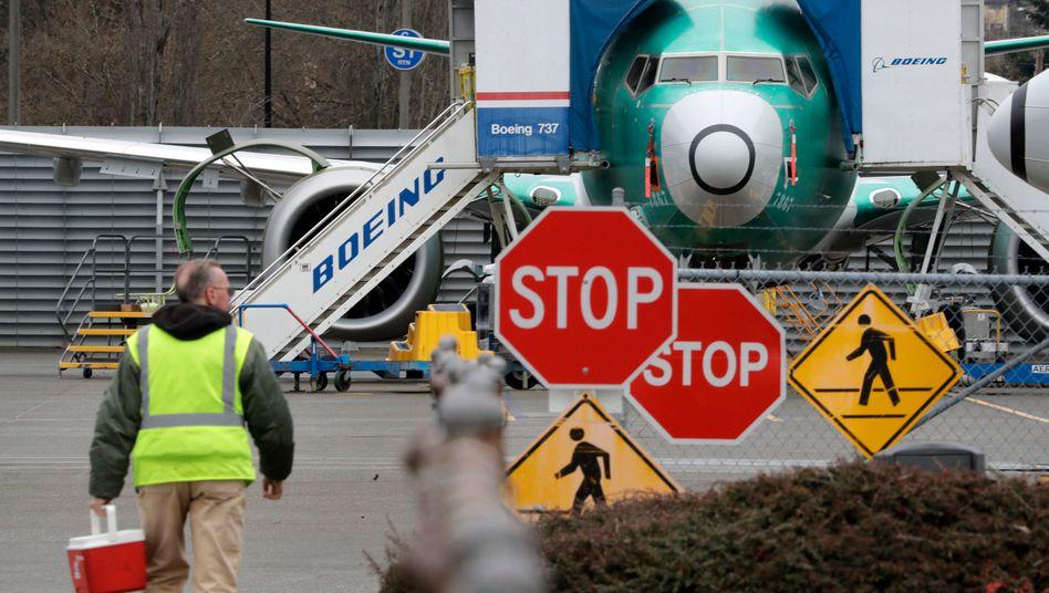 737 Max am Boeing-Werk in Renton (US-Staat Washington)