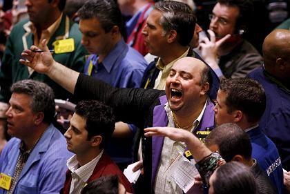 Hektisches Geschäft: Ölhändler an der New Yorker Terminbörse Nymex